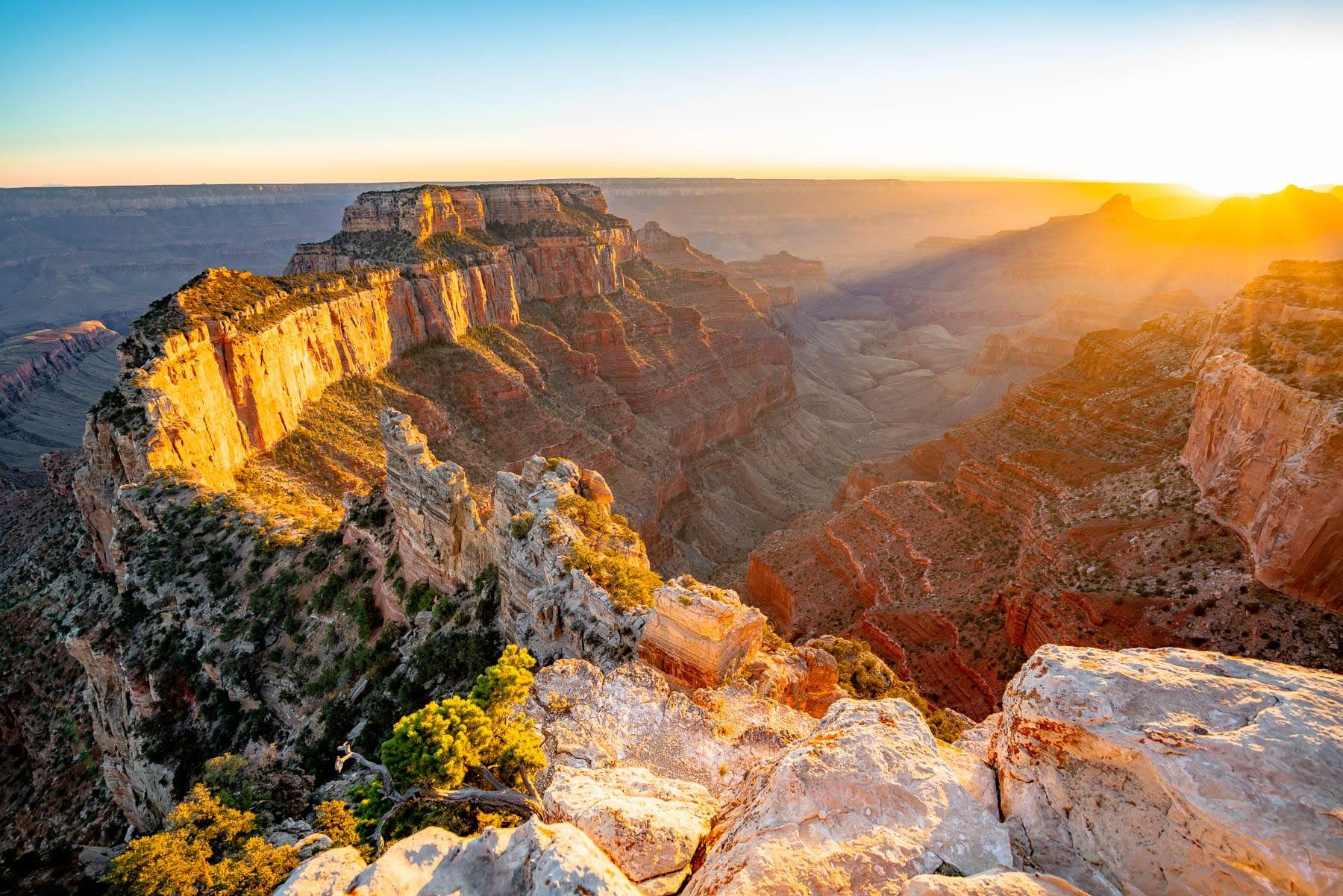 sunset grand canyon national park