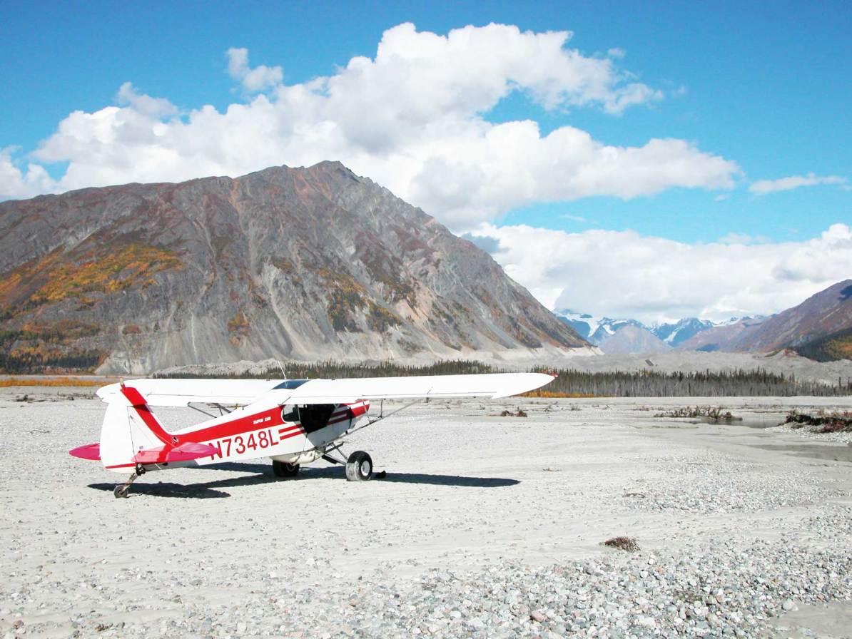 wrangell st elias national park alaska flight