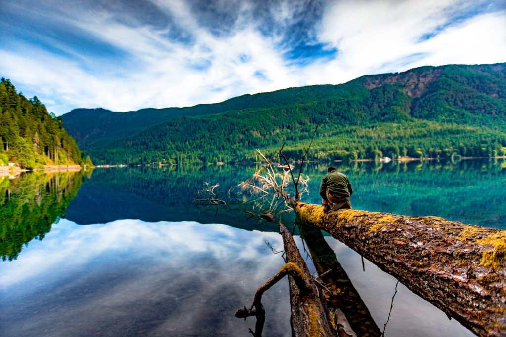 lake crescent olympic national park washington
