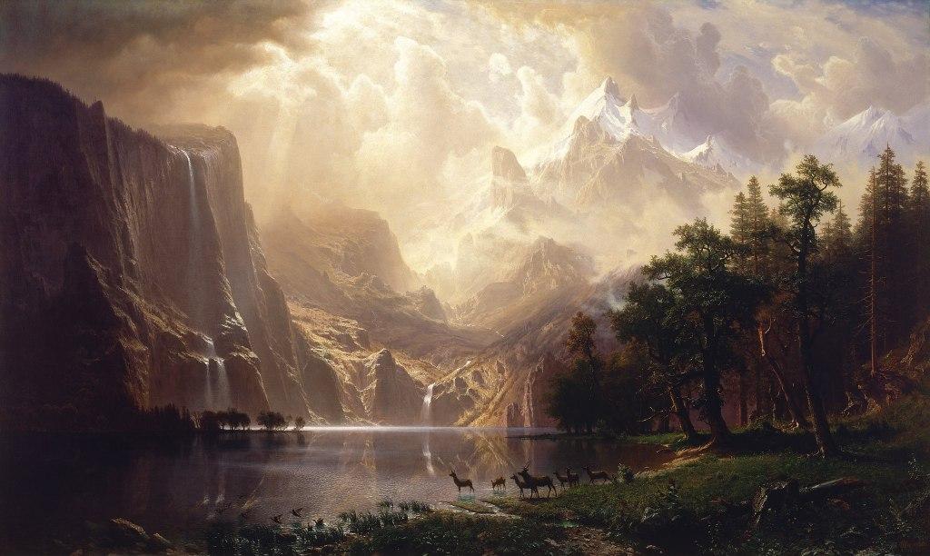 Landscape artist Albert Bierstadt was influenced by the beauty of the Hetch Hetchy Valley.