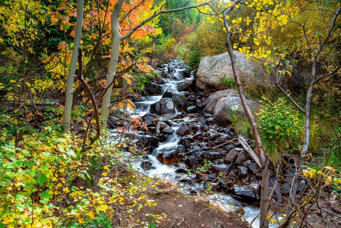 boulder brook trail rocky mountain national park colorado fall