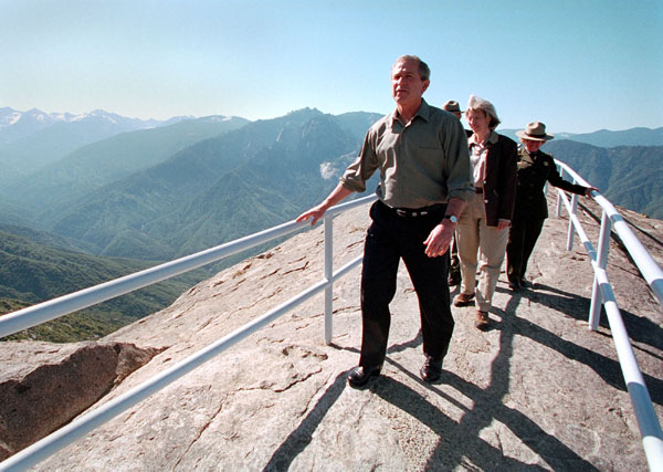 George W. Bush was the first president to visit the park while in office | General Sherman Tree