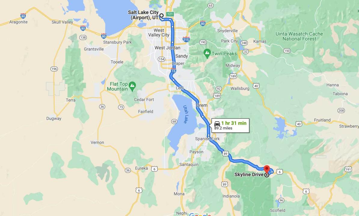 getting to manti la sal national forest