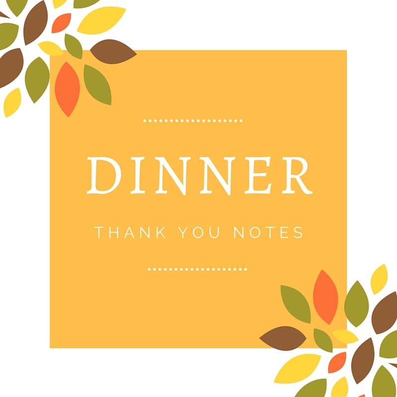 Dinner Thank You Note Wording Thoughtful Message