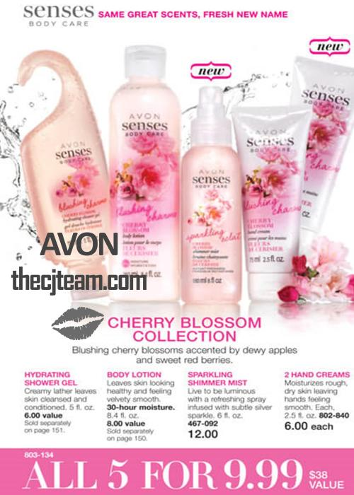 Avon Senses Cherry Blossom Bundle C8 2016x