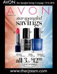Avon Star-Spangled Savings Sales Flyer Campaign 13/14, 2016