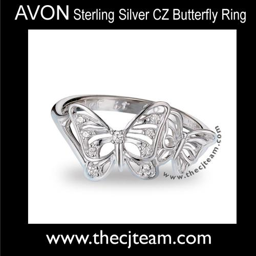 Sterling Silver CZ Butterfly Ring x