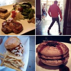 Some of the delish from Dishcrawl, and one of the random street performances along the way!