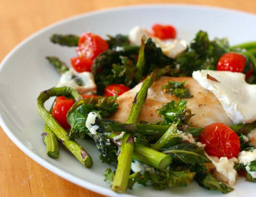 Italian chicken with asparagus and goats cheese