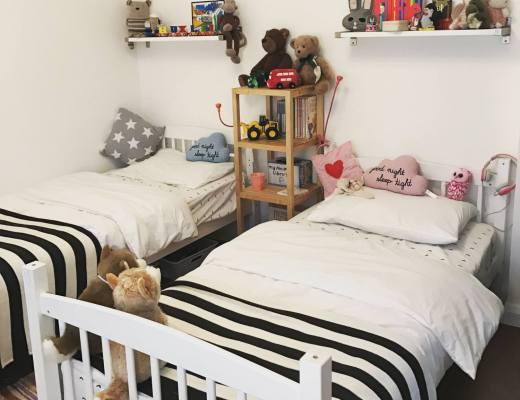 monochrome kids room