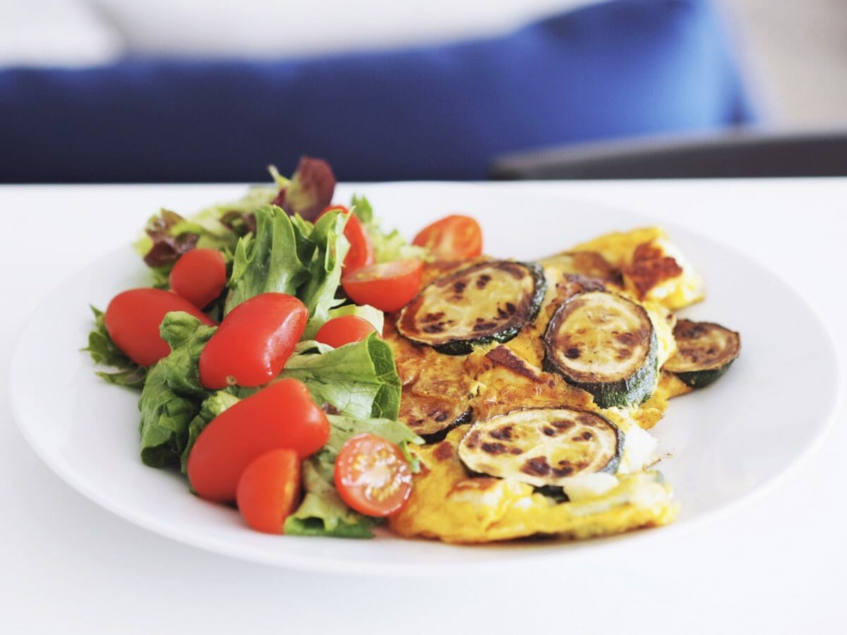 Courgette, Lemon and Feta Frittata