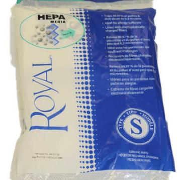 Royal Style S AR10130 HEPA Filtration Premium Allergen Filtration Vacuum Cleaner Bags