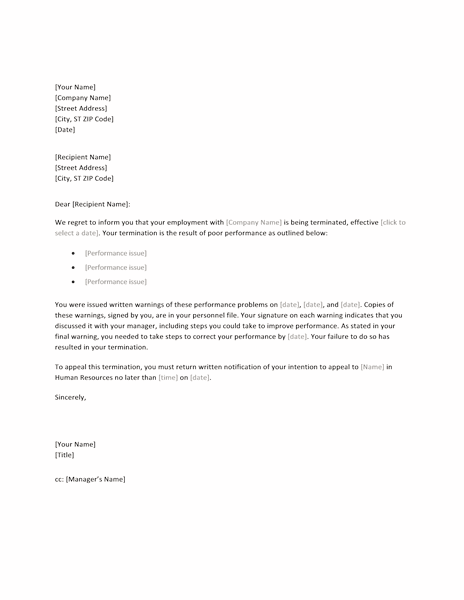 Termination Notice Template termination letter sample how to – How to Write a Termination Letter to a Company