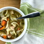 This Homemade Chicken Noodle soup is the epitome of comfort food. Ready in under an hour, you'll never go back to canned again!