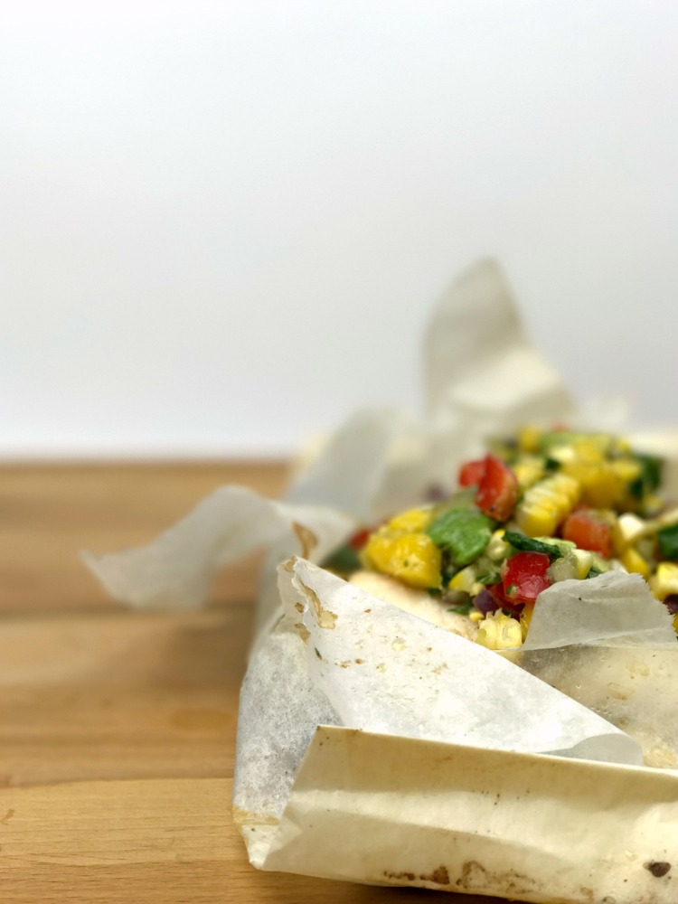 Cod en Papillote with Lemon Mango Salsa