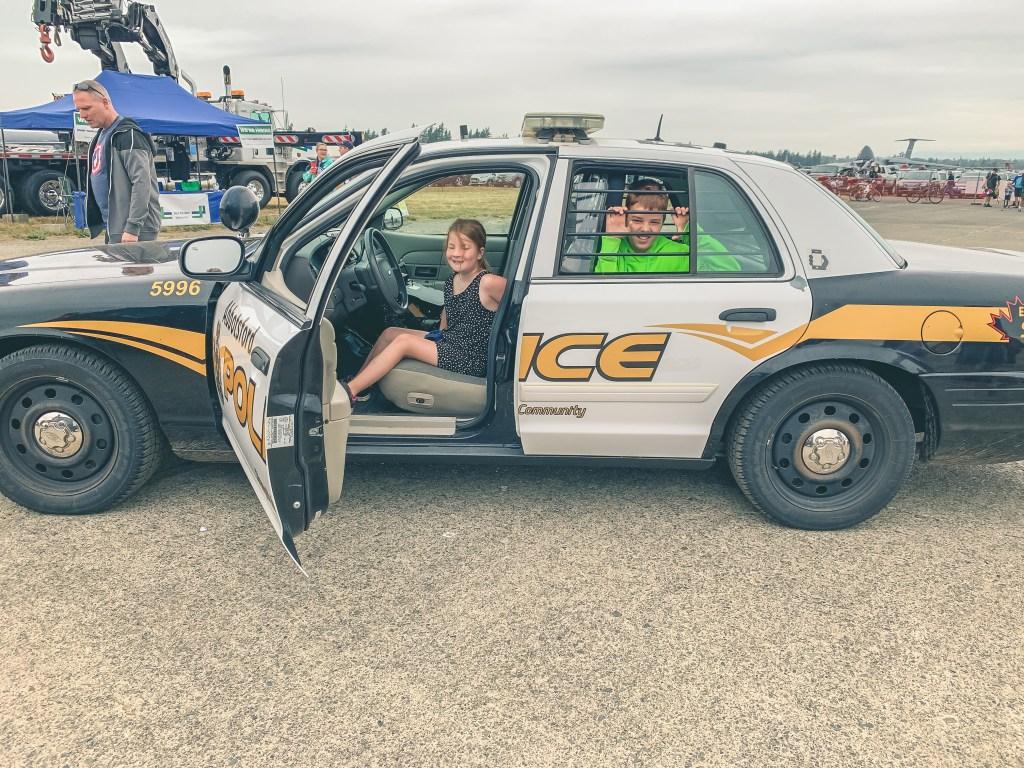 Children in Abbotsford Police car