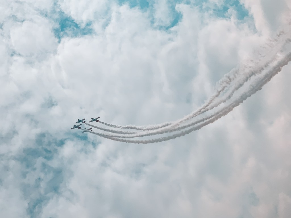 Canadian Forces Snowbirds flying in the sky