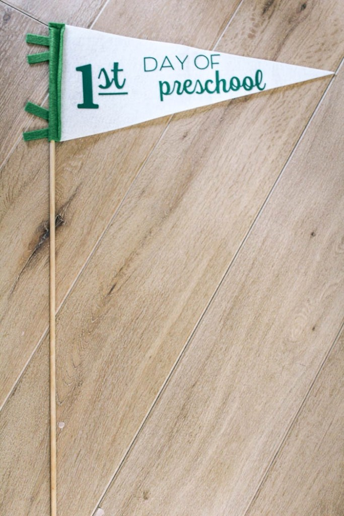 Cricut personalized back to school pennant flag