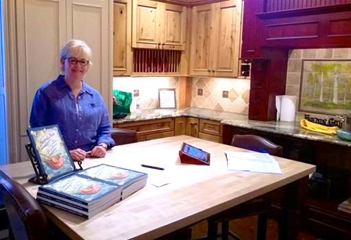 Alyce-Aspen kitchens signing books