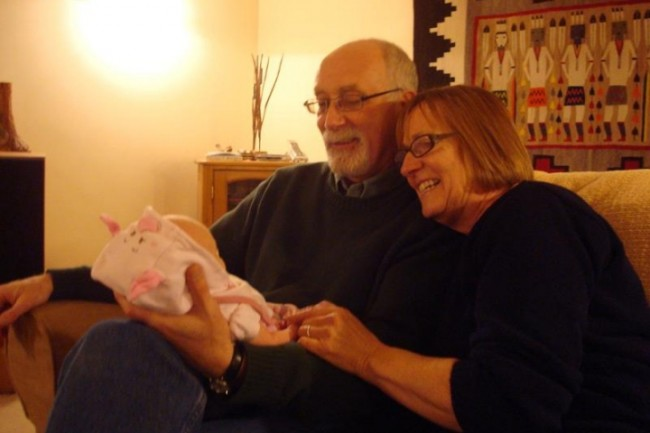 Annabelle, Grandpa and Grandma
