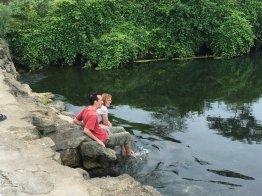 Cool, clear water at Fuli Bridge