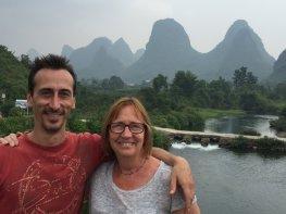 Adam & Penny on Fuli Bridge