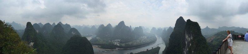 The view across Xiang gong shan