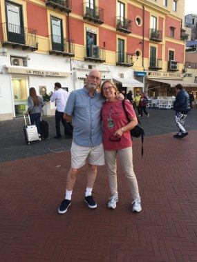Lovely couple in Capri