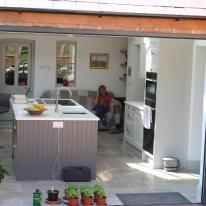 A fine summer's day in the new kitchen