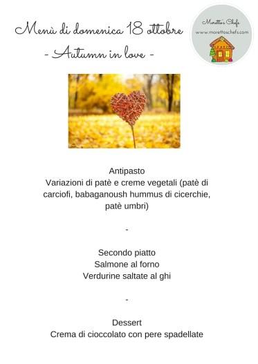 "Menù ""Autumn in love"""