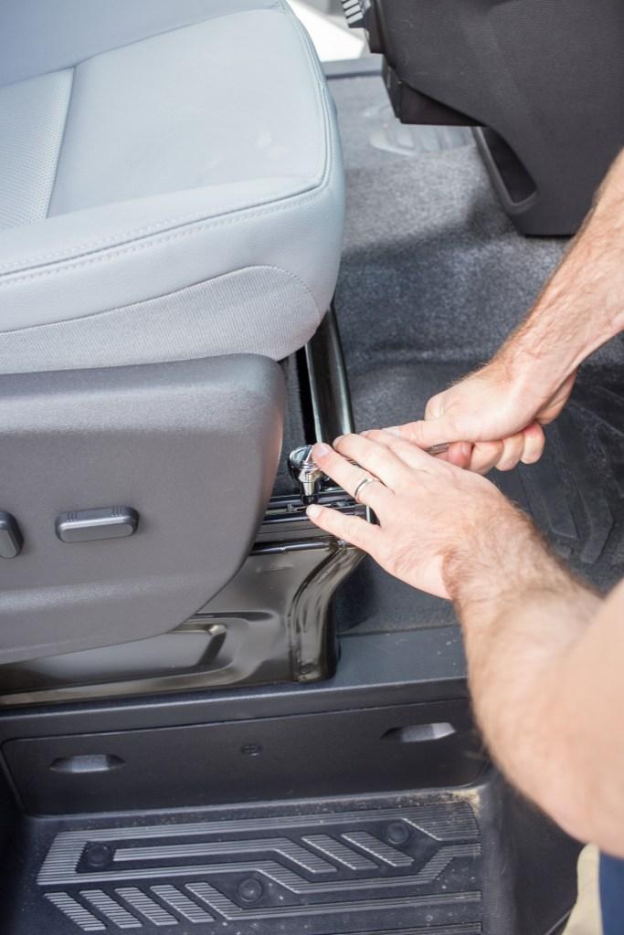 Removing Front Passenger Seat Screws