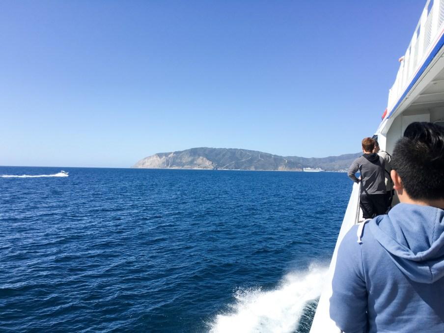 Ferry boat heading to Catalina Island