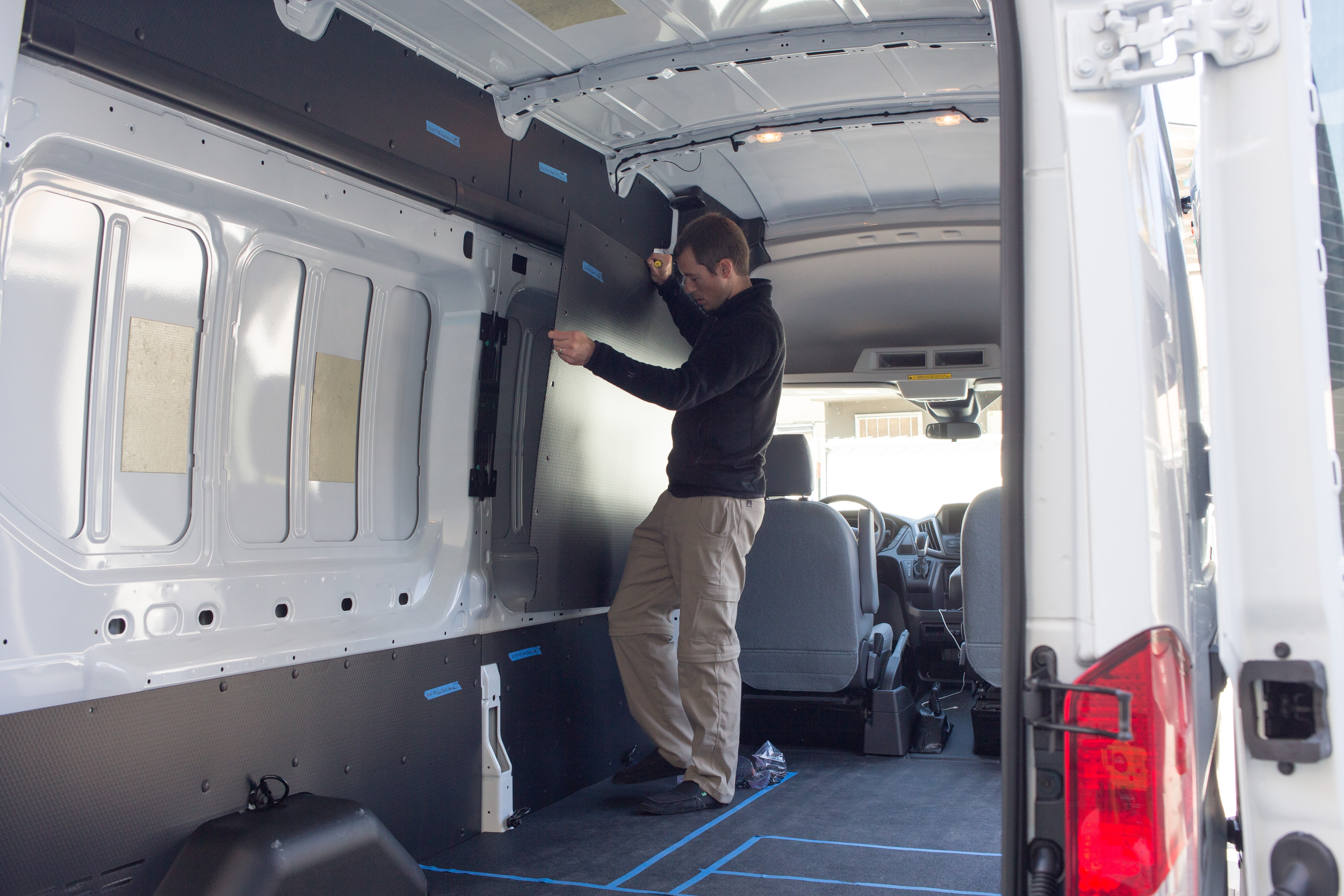 How To Insulate A Van With Thinsulate Morey S In Transit