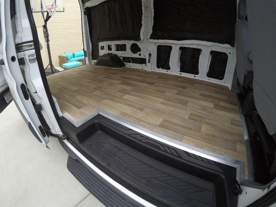 Side view of vinyl floor