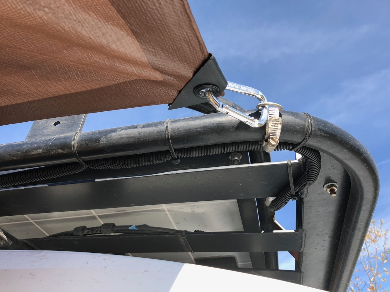 Tarp Attached To Roof Rack