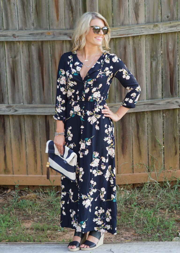 Long Sleeve Floral Maxi The Perfect Summer Date Night Dress