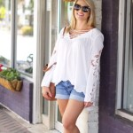 White Lace Up Long SleeveTop: It's All in the Details