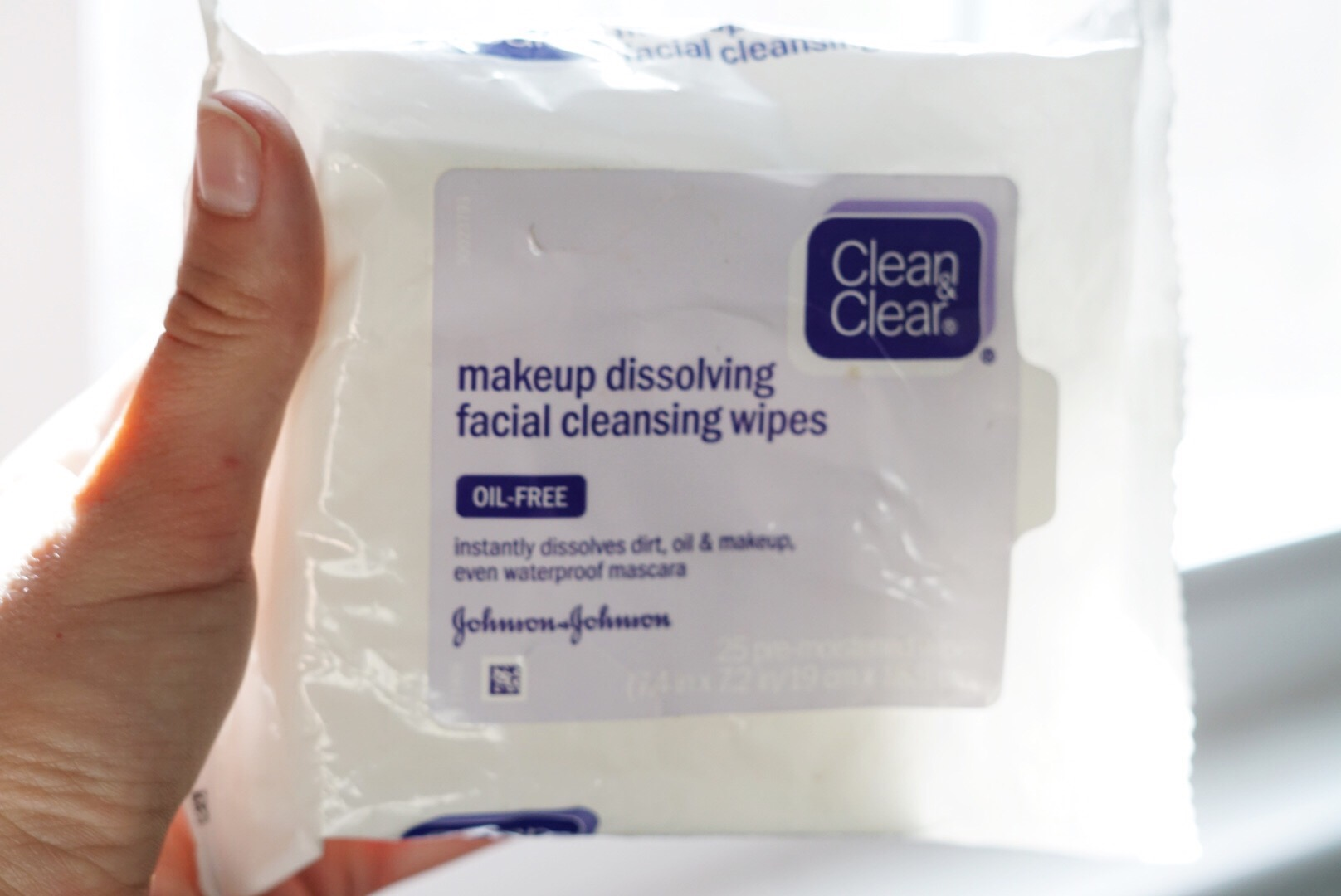 Neutrogena Light Therapy Acne Mask and Clean & Clear makeup dissolving wipes