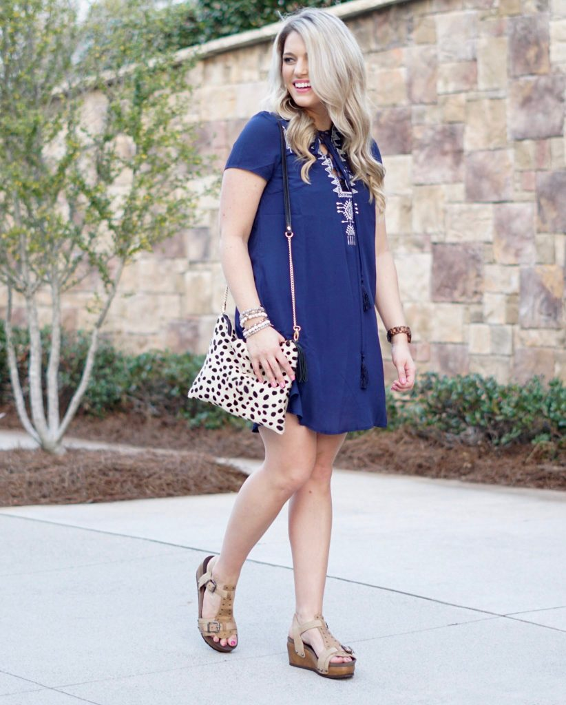 Work Outfit: Casual Navy Dress