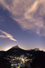 Ciel étoilé au dessus de Chamechaude et du Sappey en Chartreuse