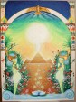 Painting n°6 - The Pyramid of Cheops and the river Nile