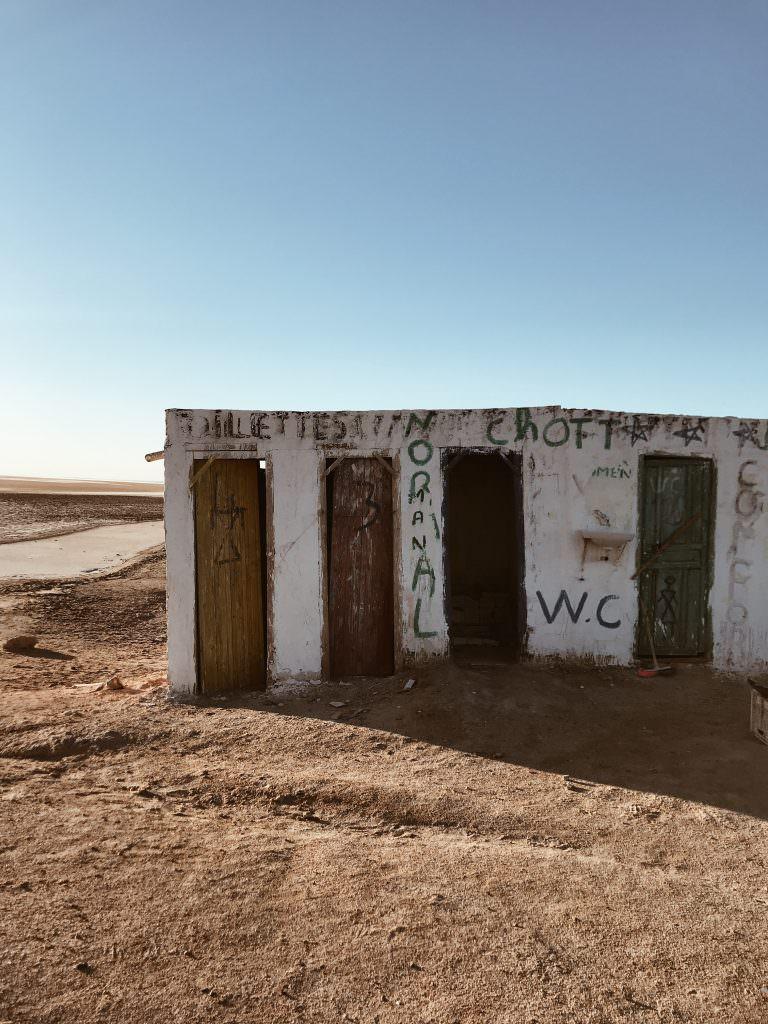 Chott el jerid wc route tunisie