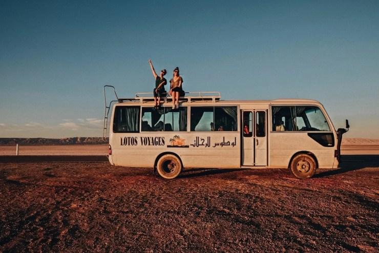 chott el jerid bus tunisie lac salé