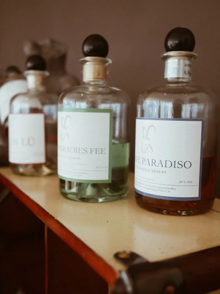 Hotel Paradies Ftan homemade gin