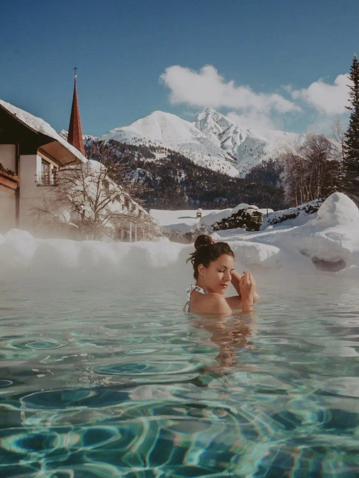 spa hotel klosterbräu seefeld in tirol outdoor pool