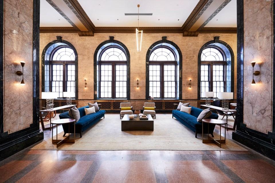 Lobby of Noelle Hotel Nashville