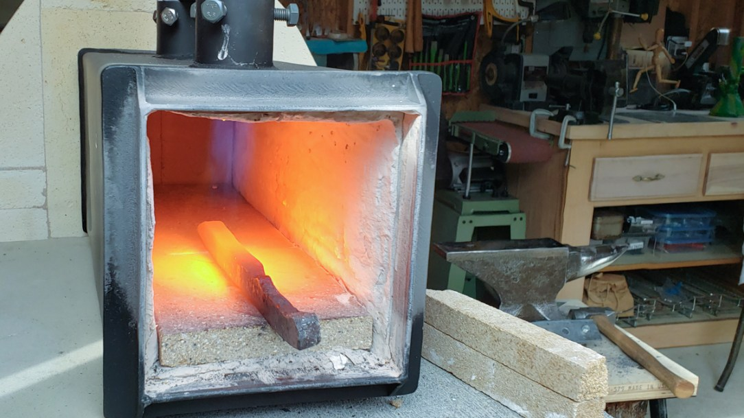 heating steel in a forge