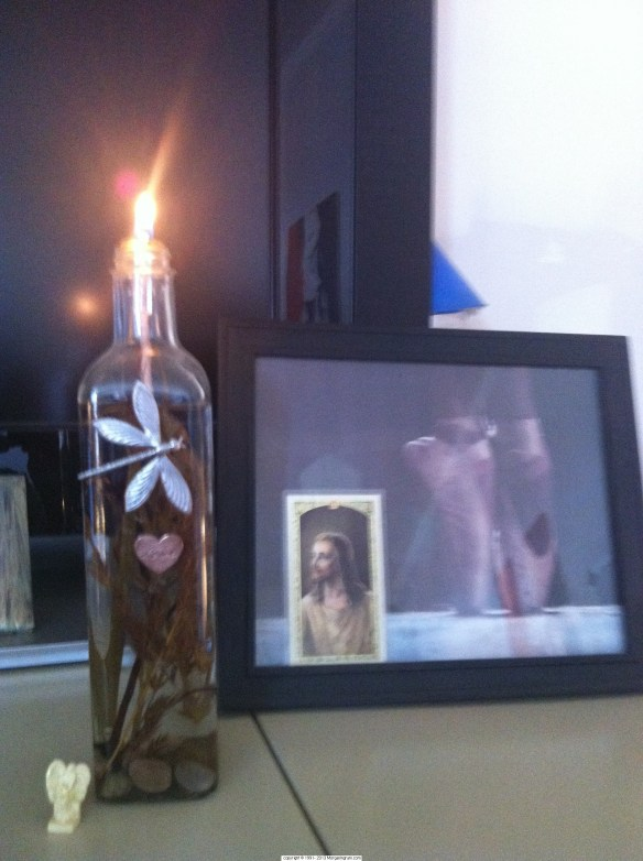 Morgan your dragonfly candle still burns bright thanks to your Aunt Carol