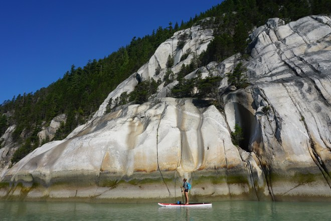 Checking out Howe Sound by standup paddleboard.  Photo:  Norm Hann