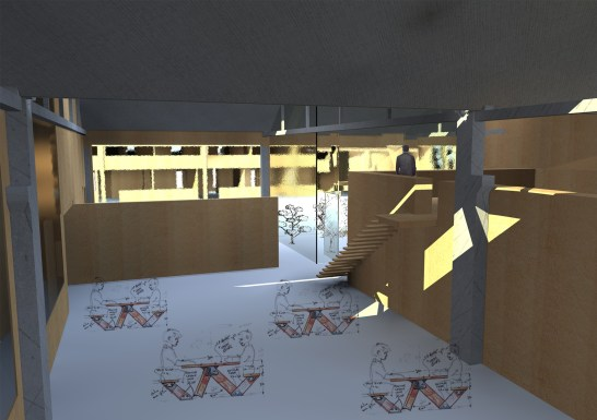 Intégration : Salle polyvalente.